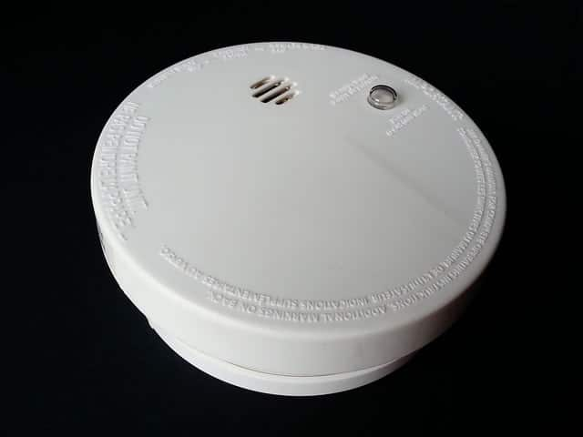 smoke detector, fire alarm, heating safety