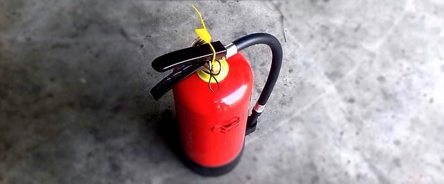 heating safety, fire extinguisher
