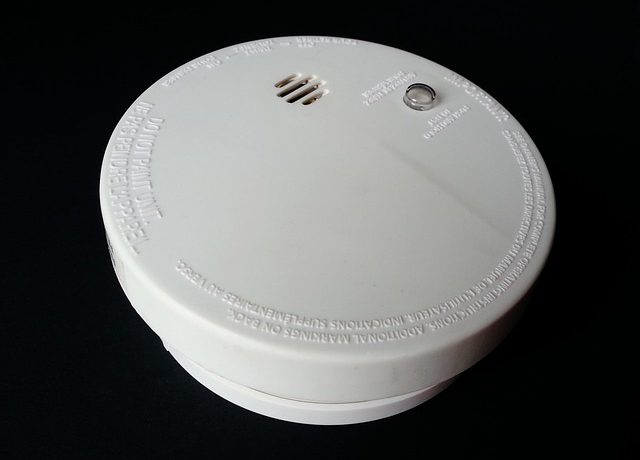 heating season, smoke detector