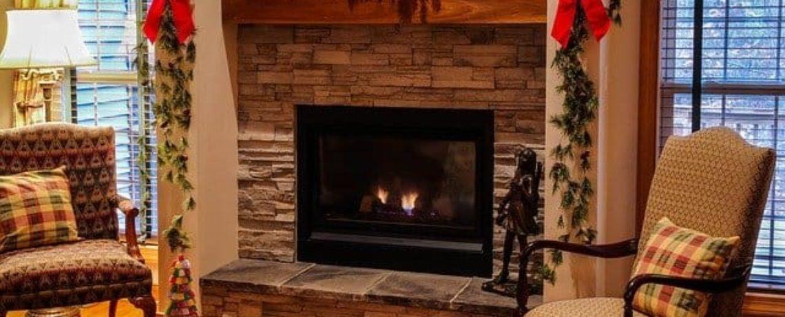 fireplace, winter, safety