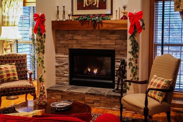 fireplace, winter, safety